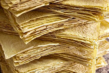 Traditional Carasau crispy bread, Sardinia, Italy, Europe