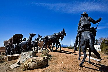 Cowboy monument, Santa Fe, New Mexico, United States of America, North America