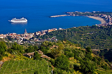 Cruise boat, Giardini-Naxos, Sicily, Italy