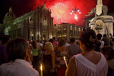 Sant'Agata religius celebration, Catania, Sicily, Italy, Europe