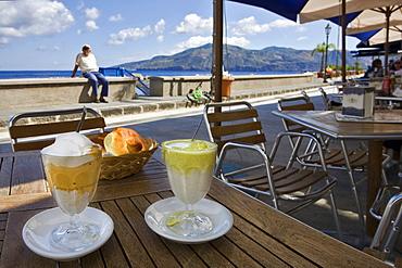 Traditional Granita Siciliana ice cream, Salina Island, Sicily, Italy, Europe