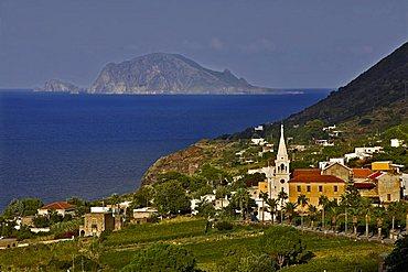 Malfa village, Salina Island, Messina, Italy, Europe