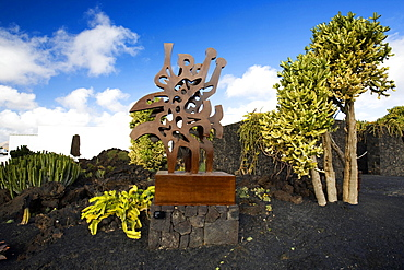 Taro de Tahiche, Cesar Manrique's former house, sculpture, Lanzarote,  Canary Islands,  Spain