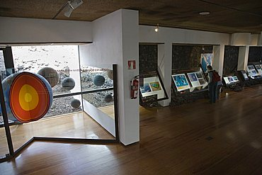 Visitors center, interior, Timanfaya National Park, UNESCO biospherical Reserve, mancha Blanca,  Lanzarote, Canary Islands, Spain