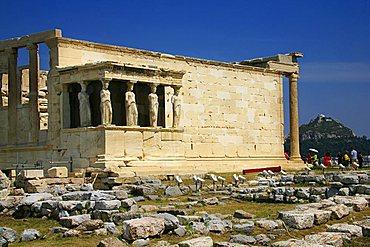 The Erechtheum, Acropolis, Athens, Greece, Europe