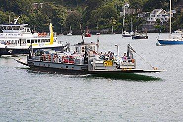 Ferry from Dartmouth to Kingswear, Devon, England, Great Britain