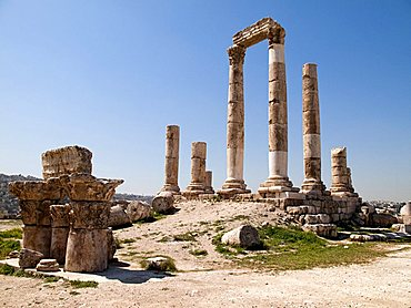 Middle East, Jordan, Amman, The multi-cultural capital of Jordan between the desert and the Jordan Valley