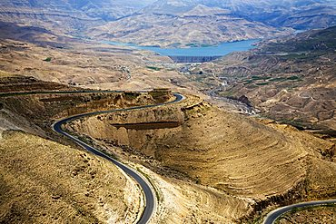 Middle East, Jordan, Wadi Mujib, a wonderful gorge which enters the Dead Sea at about 400 meters below the sea level