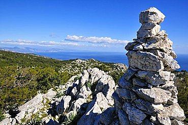 Monte Santu mountain, Baunei, Ogliastra, Golfo di Orosei gulf, Sardinia, Italy, Europe