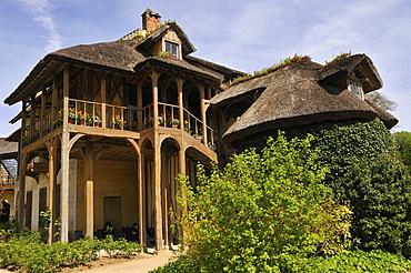 Hameau de Marie Antoinette, Giardini del Petit Trianon, Palace of Versailles, Versailles, Paris, Ile-de-France, France, Europe