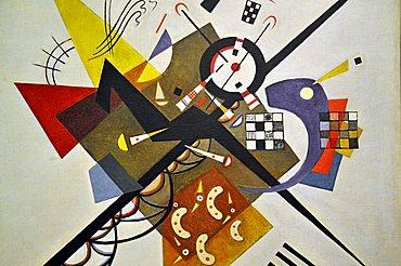 On White II, Vassily Kandinsky, Musee National d'Art Moderne, Centre Georges Pompidou, Beaubourg, Paris, Ile-de-France, France, Europe