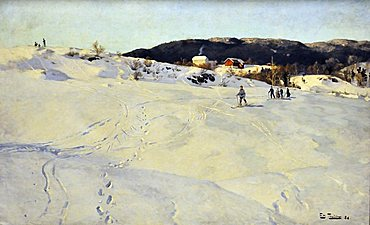 A Winter's Day in Norway, Fritz Thaulow, Musee d'Orsay, Paris, Ile-de-France, France, Europe