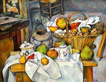 Still Life with Fruit Basket, Paul Cezanne, Musee d'Orsay, Paris, Ile-de-France, France, Europe