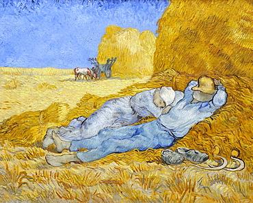 Siesta, Vincent Van Gogh, Musee d'Orsay, Paris, Ile-de-France, France, Europe
