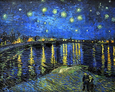 Starry Night Over the Rhone, Vincent Van Gogh, Musee d'Orsay, Paris, Ile-de-France, France, Europe