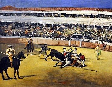 Bull Fight, edouard Manet, Musee d'Orsay, Paris, Ile-de-France, France, Europe