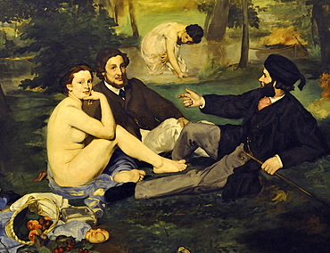 The Luncheon on the Grass, edouard Manet, Musee d'Orsay, Paris, Ile-de-France, France, Europe