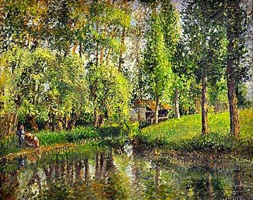 Camille Pissarro's pictures, Musee d'Orsay, Paris, Ile-de-France, France, Europe