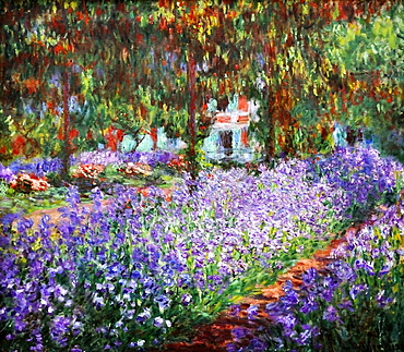 Garden at Giverny, Claude Monet, Musee d'Orsay, Paris, Ile-de-France, France, Europe