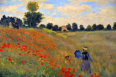 Poppy Field, Claude Monet, Musee d'Orsay, Paris, Ile-de-France, France, Europe