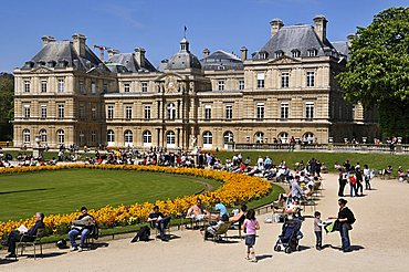 Luxembourg Palace and Jardin du Luxembourg, Rive Gauche, Paris, Ile-de-France, France, Europe