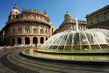 Piazza De Ferrari, Genoa, Ligury, Italy, Europe