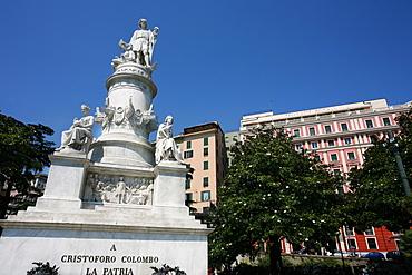 Cristoforo Colombo monument,Piazza Principe square, Genoa, Ligury, Italy, Europe