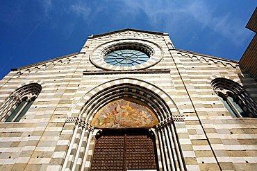 Sant'Agostino deconsecrate church, now used as theatre, Gothic style, Teatro della Tosse, Piazza Renato Negri square, Genoa, Ligury, Italy, Europe