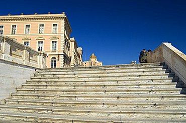 Bastione S.Remy e Cattedrale S.Maria, Castello, Cagliari, Sardinia, Italy, Europe