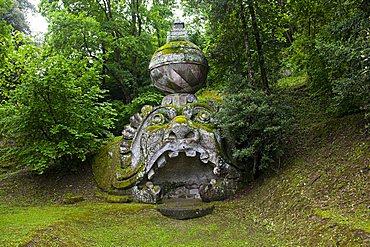 Proteo Glauco, Parco dei Mostri monumental complex, Bomarzo, Lazio, Italy