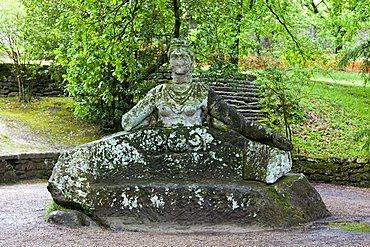 Proserpina statue, Parco dei Mostri monumental complex, Bomarzo, Lazio, Italy