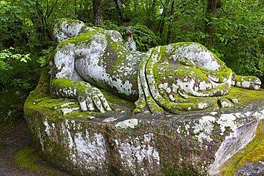 Sleeping Nymph, Parco dei Mostri monumental complex, Bomarzo, Lazio, Italy