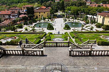 Flight of steps, Garden, Vila Garzoni, Collodi, Tuscany, Italy