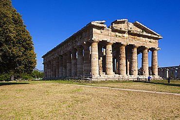 Hera temple also called Nettuno temple or Poseidon temple, Paestum archaeological area, Campania, Italy