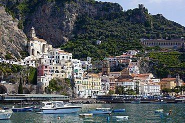 Cityscape, Amalfi, Gulf of Salerno, Amalfi Coast, Campania, Italy