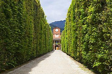 Palazzina dell'Orologio or clockhouse, Villa Marlia, Capannori, Tuscany, Italy