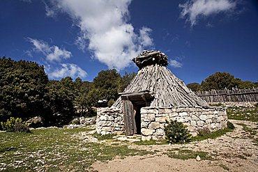 Old typical sheepfold, Supramonte, Urzulei (OG), Sardinia, Italy, Europe