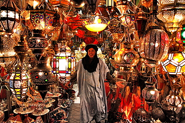 Lamps shop, Medina, Marrakech, Morocco Medina, Marrakech, Morocco, North Africa