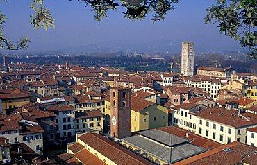 Cityscape, Lucca, Tuscany, Italy