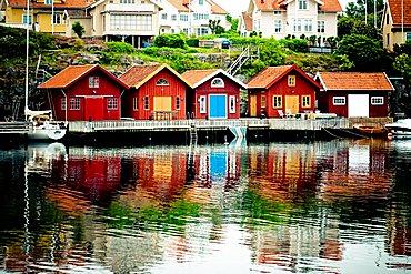 Fishermen village, Fiskebackskil, Northern Sea, West Coast, Sweden, Europe