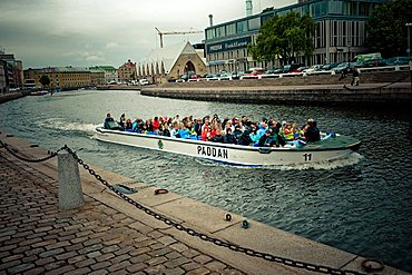 Panoramic tour along the river, Goteborg, West Coast, Sweden, Europe