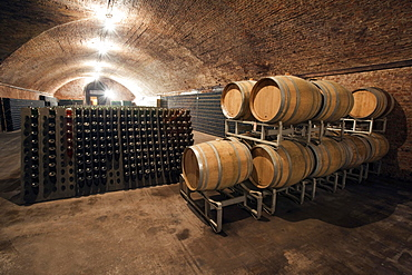 Contratto underground wine cathedral in Canelli, Asti, Piedmont, Italy, Europe