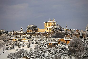 Snow in Florence, Belvedere fort,  Tuscany, Italy, Europe