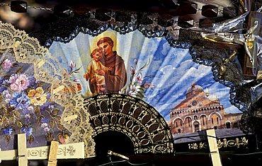 Souvenirs out of the Basilica, Padova, Veneto, Italy