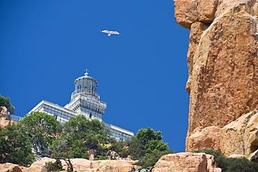 Lighthouse, Capo Bellavista, Arbatax, TortolvO, Ogliastra, Sardinia, Italy