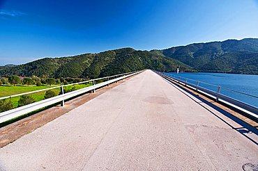 Rio Leni Dam, Villacidro, Medio Campidano Province, Sardinia, Italy, Europe