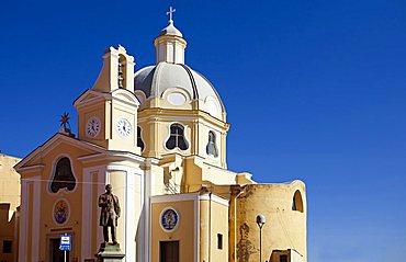 Santa Maria delle Grazie church, Procida island, Campania, Italy, Europe.