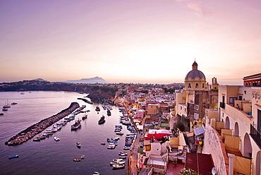 Cityscape, Corricella village, Procida island,Campania,Italy,Europe.