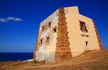Tower, Punta Spalmatore, Ustica, Ustica island, Sicily, Italy