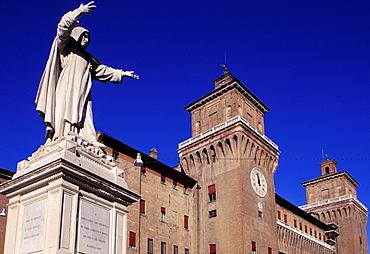 Savonarola's monument, Ferrara, Emilia-Romagna, Italy